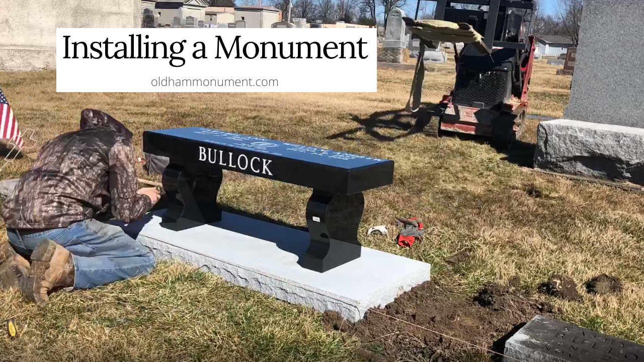 YouTube thumbnail for video Installing a Monument that links to the video.